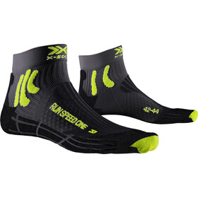 X-Socks Run Speed One Calze, charcoal/phyton yellow/black